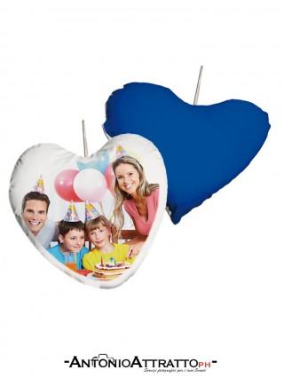 Cuscino cuore piccolo blu